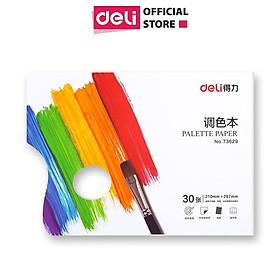 Bảng pha màu bằng giấy chuyên dụng Deli - Khổ A4, 30 tờ - 1 quyển - 73629