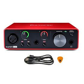 Focusrite Scarlett Solo Gen 3 Sound Card Âm Thanh Hàng Chính Hãng - Focus USB Audio Interface SoundCard (3rd - Gen3) - Kèm Móng Gẩy DreamMaker