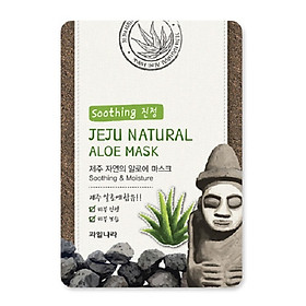 Mặt nạ dưỡng da lô hội (com bo 10 miếng) Hàn Quốc Welcos jeju natural aloe mask 20ml