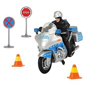 Xe Máy Cảnh Sát Police Bike Set Dickie Toys - DK01038