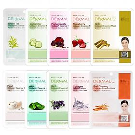 Combo 10 mặt nạ Dermal Tinh chất Collagen Hàn Quốc nhiều loại (23g)