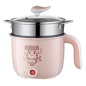Ca Mì 18cm Có Giá Hấp Inox Cooking Pot, Ca Điện Nấu Mì Đa Năng, Có Giá Hấp Tiện Dụng, Lõi Inox Chống Dính An Toàn, Vung Thủy Tinh Chất Liệu Tốt