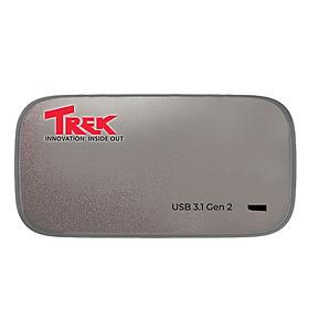 Ổ cứng di động SSD TREK Micro Portable SSD 256GB USB 3.1 Gen 2 Type C (Titanium) - Hàng Chính Hãng