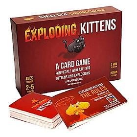Mèo Nổ Bạc - Exploding Kittens Silver Phiên bản nâng cấp 78 lá - Bản Song Ngữ Anh - Việt ( Có tiếng việt đi kèm)