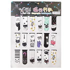 Bookmark Nam Châm Magnet ( Đánh Dấu Sách ) Meo Meow Dễ Thương Màu Sắc