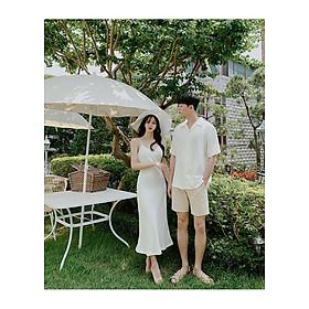 Váy đôi trắng chụp ảnh cưới
