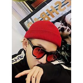 Mũ len trùm đầu phong cách Hip Hop NL17, Nón len trơn phong cách Hàn Quốc dành cho cả nam và nữ - Màu đỏ
