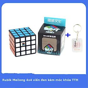 Rubik 4x4 Meilong Xoay Mượt Kèm Móc Khóa TTH