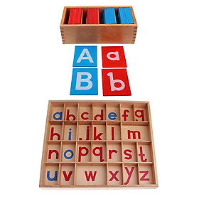 2 Set Montessori Movable Alphabets Box Letters Wooden for Children Education - intl