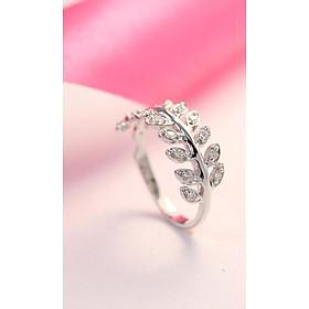 Nhẫn bạc nữ đẹp hình chiếc lá nguyệt quế NN0199