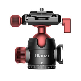 Ulanzi U-70 Mini Ball Head Dual 360° Panorama Adjusting with Cold Shoe Mount Quick Release Plate Compatible with