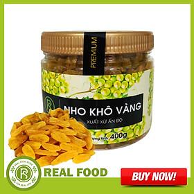 Nho Khô Vàng REAL FOOD STORE (400g/hũ)