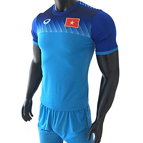 Hình đại diện sản phẩm Đồ bộ quần áo thể thao, quần áo bóng đá nam đội tuyển Việt Nam 2019 màu xanh thời trang