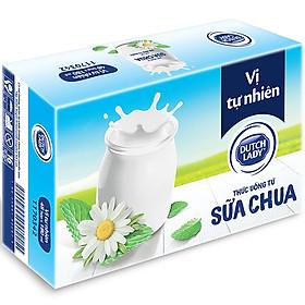Thùng Sữa Chua Uống Lên Men Tự Nhiên Dutch Lady Vị Tự Nhiên (48 hộp x 180ml)