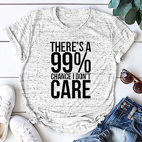 Fashion Women Slogan T-Shirt Short Sleeves O Neck Letters Print I Don'T Care Plus Size Cotton Cool Tees Casual Tops