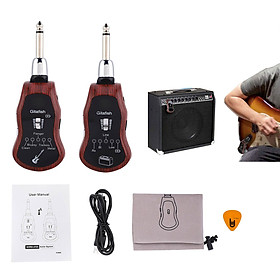 GitaFish K380C Bộ Thu Phát Tín Hiệu Không Dây Wireless System - Hỗ trợ Bluetooth (Pin sạc, Dùng cho Đàn Guitar và mọi loại Nhạc Cụ khác) - Kèm Móng Gẩy DreamMaker