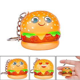 Squishy hambuger mini dạng móc khóa - Giao mặt burger ngẫu nhiên