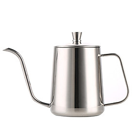 600ml Coffee Kettle Brew Coffee Kettle Coffee Maker Brewer Coffee Pot Stainless Steel with Handle Birthday Gift for