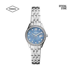 Đồng hồ nữ Fossil Micro Scarlette ES5074 dây thép không gỉ - màu bạc