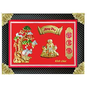 Tranh Đồng Mừng Thọ Hình Bà - Tôn Đản HP (50 x 70cm)