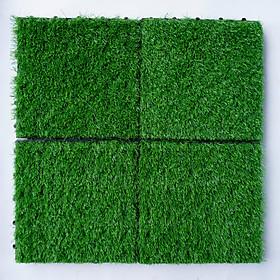 Combo 9 Vỉ Cỏ Nhân Tạo dùng để trang trí ban công, lót hành lang, văn phòng, cửa ra vào cùng với vỉ gỗ, tạo không gian xanh cho ngôi nhà, kích thước 30cmx30cm, chiều cao 3cm