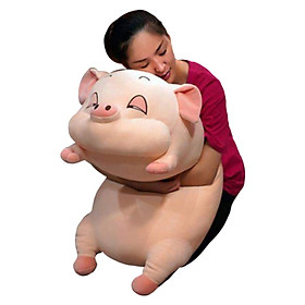 Gấu bông Heo con - Màu hồng cute - Gấu bông cao cấp lợn bông ngủ | Mua gấu bông online dễ thương