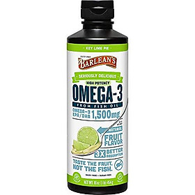 Barlean's Seriously Delicious Omega-3 High Potency Fish Oil, Key Lime Pie, 16-oz
