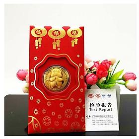 Bao lì xì trâu mạ vàng hót hít 2021 tết Tân Sửu-GD409-LiXi-TrauVang ( giao hình ngẫu nhiên)