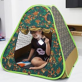 Lều Trẻ Em Lều Cho Bé Chơi Mộc Miên Chơi Trong Nhà Hoặc dã Ngoại- Lều Công Chúa Hoàng Tử - KHÔNG cần lắp ráp