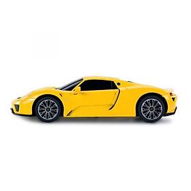 Đồ chơi xe mô hình điều khiển-R/C 1:24 PORSCHE 918 Spyder-Vàng RASTAR SKU R71400N/YEL