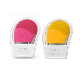 Combo 2 Máy Rửa Mặt Và Mát Xa Da Mặt Halio Hot Pink + Mustard (hồng đậm + vàng)