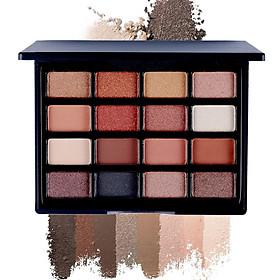 16 Colors Eye Shadow Disc Natural Easy Wearing Waterproof Metal Color Shimmer Matte Eyeshadow Palette Eye Makeup Accessories Charming Colorful Cosmetic 1