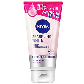 NIVEA Crystal Pure White Foaming Cleansing Milk 150g Plus Size (milk face cleansing hydrating moisturizer)