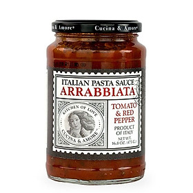 Sốt Mì Ý Cà Chua Và Ớt Đỏ Cucina Arrabbiata Hũ 475g