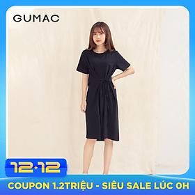 Đầm váy nữ  DA1010 GUMAC thiết kế  thắt dây eo