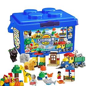Đồ chơi xếp hình - Chính hãng Hàn Quốc - Khối Sáng Tạo Thông Minh Oxford CQ2662 (Smart Creativity Block) bao gồm 102 mảnh ghép nhựa ABS cao cấp, an toàn - Dành cho trẻ em từ 3 tuổi