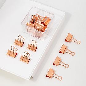 Kẹp bướm kẹp tài liệu kim loại vàng hồng Deli -15 / 25 / 44 / 50 chiếc hộp - 78202 / 78203 / 78204 / 78205