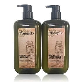 Cặp dầu gội xả Dangello Keratin shampoo & Conditioner siêu mượt tóc 500ml-0