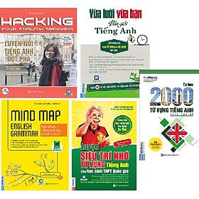 Combo 5 quyển: 1. Luyện Nói Tiếng Anh Đột Phá (App Mcbooks)+2.Ngữ Pháp Tiếng Anh Bằng Sơ Đồ Tư Duy+3.Luyện Siêu Trí Nhớ Từ Vựng Tiếng Anh Hs giỏi quốc gia (Tái Bản)+4.Tự Học 2000 Từ Vựng Tiếng Anh Theo Chủ Đề+5.Vừa Lười Vừa Bận Vẫn Giỏi Tiếng Anh(TẶNG thê
