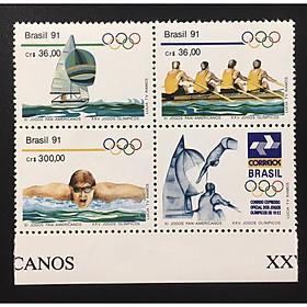 Bộ tem K4 BRAZIL 1991 MNH OLYMPICS.