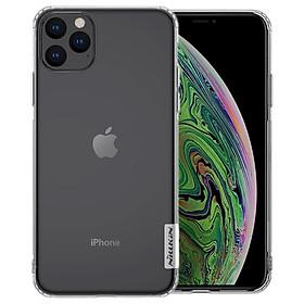 Ốp lưng dẻo cho iPhone 11 Pro Max hiệu Nillkin (mỏng 0.6mm, chống trầy xước) - Hàng chính hãng