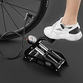 Bơm lốp ô tô xe máy xe đạp đạp chân ROCK