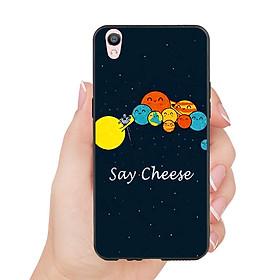 Hình đại diện sản phẩm Ốp lưng viền TPU cho Oppo F1 Plus - Say Cheese
