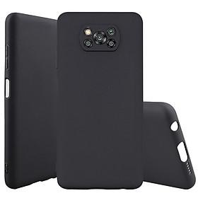 Ốp lưng cho Xiaomi Poco X3 NFC nhựa dẻo TPU Đen - che camera