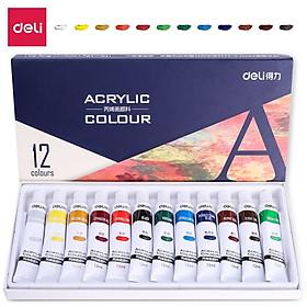 Màu Acrylic Chuyên Nghiệp Deli - 12/18/24 Màu - 73856/73857/73858