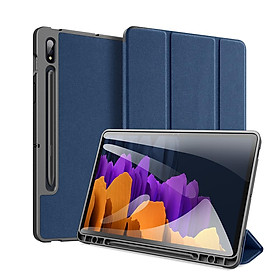 DUX DUCIS for Samsung Tab S7/Tab S7 Plus Fall Resistant Leather Protective Case Smart Stay Cover
