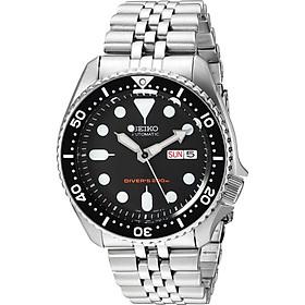 SEIKO Men's Black Boy automatic diver's watch SKX007K2