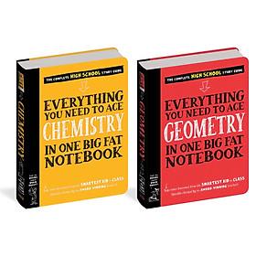 Sách Sổ toán hình học, sổ tay hóa học - sách tham khảo