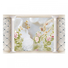 Hình đại diện sản phẩm Tranh Dán Tường Ngọc Bích 3D 3DC934