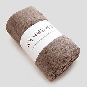 Khăn Tắm - Khăn choàng tắm xuất Hàn KT 70x140cm Cao cấp chất liệu siêu mềm mịn- Màu Ngẫu Nhiên